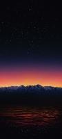綺麗な星空と雪山と海 OPPO Reno5 A Androidスマホ壁紙・待ち受け