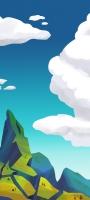 青空と緑の土地 イラスト OPPO Reno5 A Androidスマホ壁紙・待ち受け