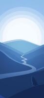 淡い青色の風景 イラスト Redmi Note 10 Pro Androidスマホ壁紙・待ち受け