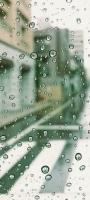 街が透けて見える水滴がついたガラス OPPO Reno5 A Androidスマホ壁紙・待ち受け