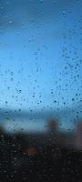 水滴のついた青いガラス Redmi Note 9S Androidスマホ壁紙・待ち受け