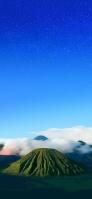 青い星空と緑の無人島 Google Pixel 5 Android 壁紙・待ち受け