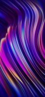 鮮やかな紫・水色・黄色の曲線 OPPO Reno A Android スマホ壁紙・待ち受け