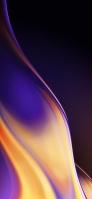 濃淡のある紫と黄色の帯 Galaxy A30 Android 壁紙・待ち受け