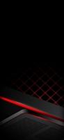 かっこいい黒の背景 赤の格子 Google Pixel 5 Android 壁紙・待ち受け